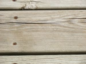 Old deck with old screws